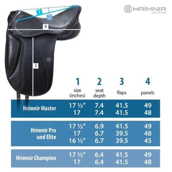 Hrimnir Pro Soft Seat maattabel