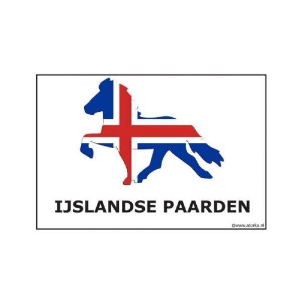 Trailerbordje IJslander