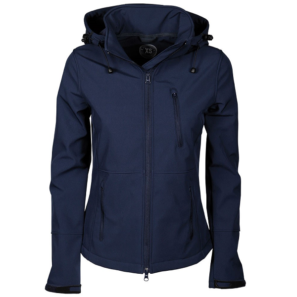 Softshell jas Chicago navy voorzijde