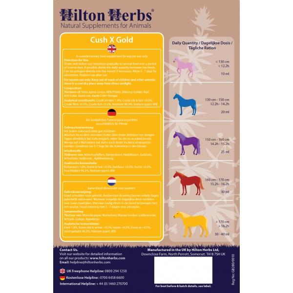 Hilton Herbs Cush X Gold Vloeibaar Supplement