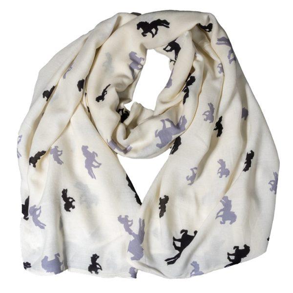 Karlslund sjaal beige-grijs