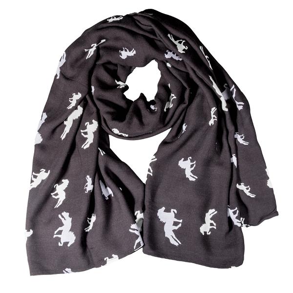 Karlslund sjaal-zwart