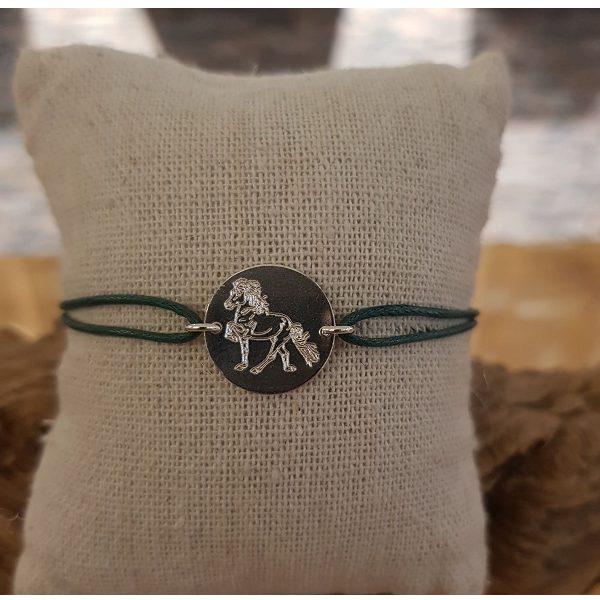 Armbandje gecoat koord groen