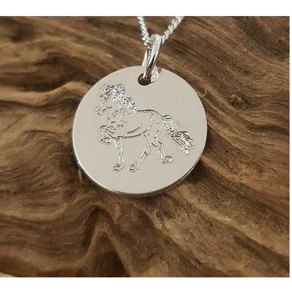Zilveren Bedeltje IJslands paard
